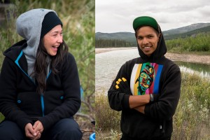 Photo: Amos Scott / Reneltta Arluk and Eugene Boulanger star in the second season of APTN's Dene A Journey, a NWT-produced TV documentary show profiling indigenous cultural resurgence.