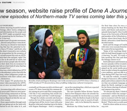 New season, website raise profile of Dene A Journey